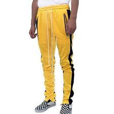 Men's Skate Hip Hop Side Zip Long Drawstring Jogging Sport Gym Track Sweat Pants