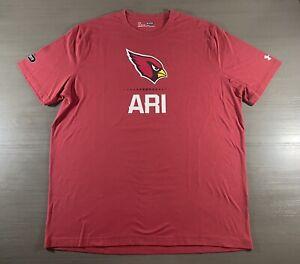 Arizona Cardinals Shirt Adult Extra Large Red Under Armour NFL Football Mens Tee