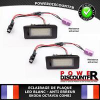 Feux Eclairage de Plaque LED BLANC XENON Skoda Octavia Combi Anti erreur canbus