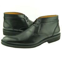 Charles Stone Leather Chukka, Men's Lace-up Ankle Boots, Black 7-13US