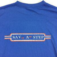 VTG USA 80s 90s Paper Thin Distressed Sav A Step T-Shirt Tee sz LARGE L Grunge