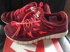 Nike Free Run 2 Mens Sneakers Sz 10 Team Red/Mortar 537732-606 NEW IN BOX