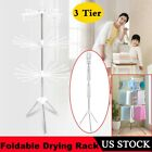 Foldable Portable Laundry Storage Drying Rack Clothes Socks Dryer Hanger Stand