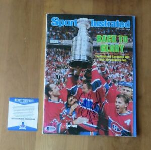Larry Robinson Signed 1986 Sports Illustrated Montreal Canadiens Beckett COA
