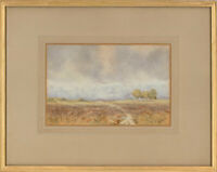 W.J. Tomlin - Signed & Framed Early 20th Century Watercolour, Across the Moor