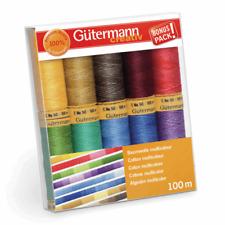 Gutermann Thread Set Natural Cotton 10 X 100m Assorted