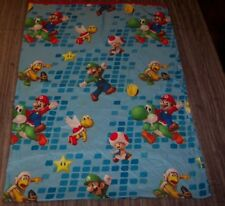 Nintendo SUPER MARIO BROS Twin Size FLAT Sheet LUIGI YOSHI TOAD KOOPA
