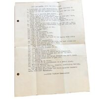 Vintage Paper - Do's & Dont's With The Girlfriend - John Hopkins Newsletter