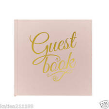 wedding pastel perfection pink gold guest book keepsake
