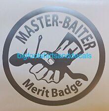 Car Decal Master Baiter Fishing Hook Bait Bass Trout Catfish Window Sticker Boat