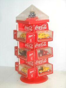 Vintage Solido France Vitrine de Vente Rotatif Avec 13 Coca Cola 1:43 Modèles