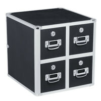 Vaultz CD File Cabinet and Storage, CD Folder Organizer Lock Case Box 4 Drawer