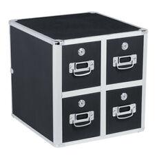 Vaultz CD File Cabinet and Storage, CD Folder Organizer Lock Case Box 4 Drawer
