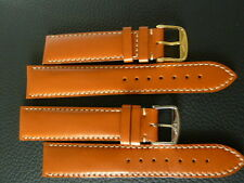 Classic  Leather Longines watch strap tobacco color 20mm.