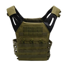 Airsoft Tactical Military Vest Black Molle Swat Army Backpack Plate Carrier CS