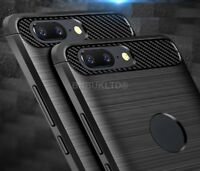 For Huawei Honor 9 Lite Carbon Fibre Gel Case Cover Brushed Shockproof Hybrid