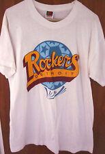 DETROIT ROCKERS lrg T shirt autographs NPSL defunct soccer Michigan tee 1990s