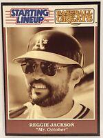 1989 Reggie Jackson starting lineup Baseball Greats Card Oakland A's HOF Yankees
