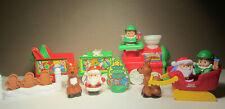 CHRISTMAS - Fisher Price Little People - Playset Pieces Misc Lot Reindeer Santa