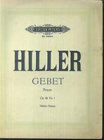 Ferdinand Hiller ~ Gebet Op. 46 Nr. 1 - mittlere Stimme