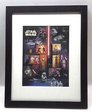 2007 Star Wars Celebration IV  USPS Postage Stamp Sheet of 15-Framed (M5815)