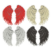 1pair wings angel sequins iron-on embroidered patch applique craft DIY Nic CSY
