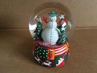 Christmas Neiman Marcus Snowman Let It Snow Musical Snow Globe 1998 Dept 56