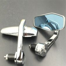 """Fit for universal motorcycle any 7/8""""  or  1"""" diameter handle  MIRROR CHROME"""
