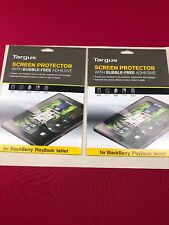 "2 Targus Blackberry Playbook LCD Screen Protector Bubble Free adhesive 7"" Tablet"