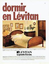 Publicité Advertising 077  1984  Lévitan  meubles  lit style Louis-Philippe