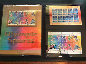Sydney Olympics 2000 Gold Medalist Stamp Collection + 2002 Winter Games