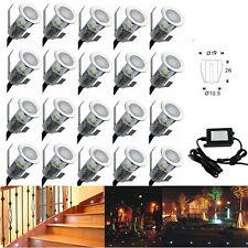 20x19mm Mini LED Deck/Kitchen/Plinth/Spot/Path Outdoor Lights 0.4W Low voltage