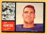 1962 Topps Football # 84 Art Hunter (VG-EX) Lot 701 -- Los Angeles Rams