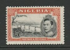 Nigeria 1938 George VI 5/- Black & orange Perf 13 x 11½ SG 59 Mint.