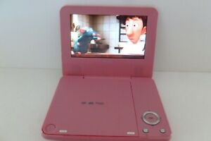 """Bush DP7318 Pink Portable DVD Player (7"""")"""