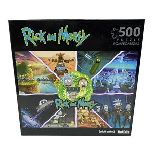 RICK AND MORTY ADULT SWIM 500 Piece PUZZLE BRAND NEW FAST FREE SHIPPING