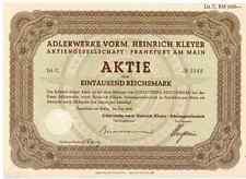Adlerwerke vorm. Heinrich Kleyer AG Frankfurt 1934 Triumph  Adler