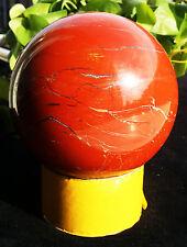 BEST!!! 2837g 12.5mm Natural red jasper quartz sphere ball ball healing B4