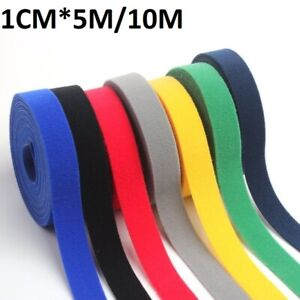Nylon Cable Mess Management Wire Organizer Holder Cord Desk Table Sticky 5/10M