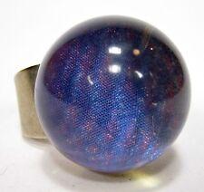 SoHo® Ring Kugel rheinischer Schunkelring SoHo Kunstharz blau Ball