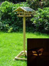 Solar LED Vogelfutterhaus Tirol Beleuchtung Futterhaus Vogelhaus Volgehäuschen