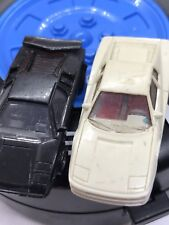 Lamborghini Countach Micro Mini Accurate Monogram Ho 1/87 Black & White 2 lot