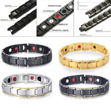 MENS TITANIUM SUPER STRONG MAGNETIC THERAPY BRACELET BIO HEALING ARTHRITIS COOL.