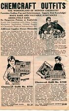 1929 small Print Ad of Chemcraft Outfits No 1 & 3 Chemistry Kits chemical magic