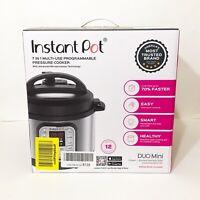 Instant Pot Duo Mini 3 Qt 7-in-1 Multi- Use Programmable Pressure Cooker