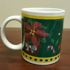 Christmas Decorations Poinsetta Candy Cane Coffee Mug
