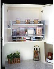 Large Pull-Down Wall Cabinet Shelf System Rev-A-Shelf Kitchen Laundry Bathroom