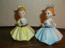 Porcelain little girl figurines by Simson