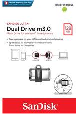 SanDisk 128GB OTG Ultra Dual microUSB 128G USB 3.0 Pen Drive SDDD3-128G Retail