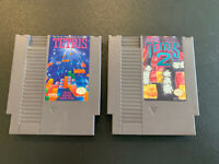 Tetris 1 & 2 for NES Original Nintendo, Cleaned Authentic